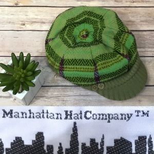 Manhattan Hat Company Plaid Green Hat